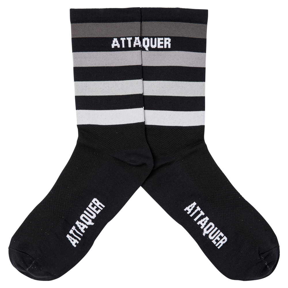 Faded Stripe Socks Black main