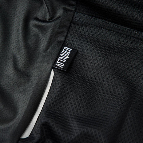 A Line Black Bib Shorts detail