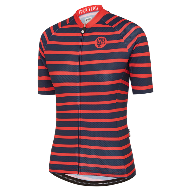 Womens All Day Sailor Jersey Navy/Red main