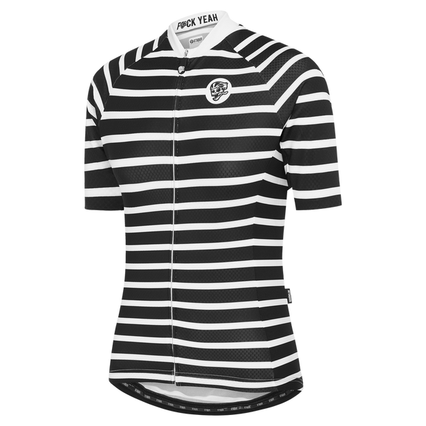 Womens All Day Sailor Jersey Black/White main
