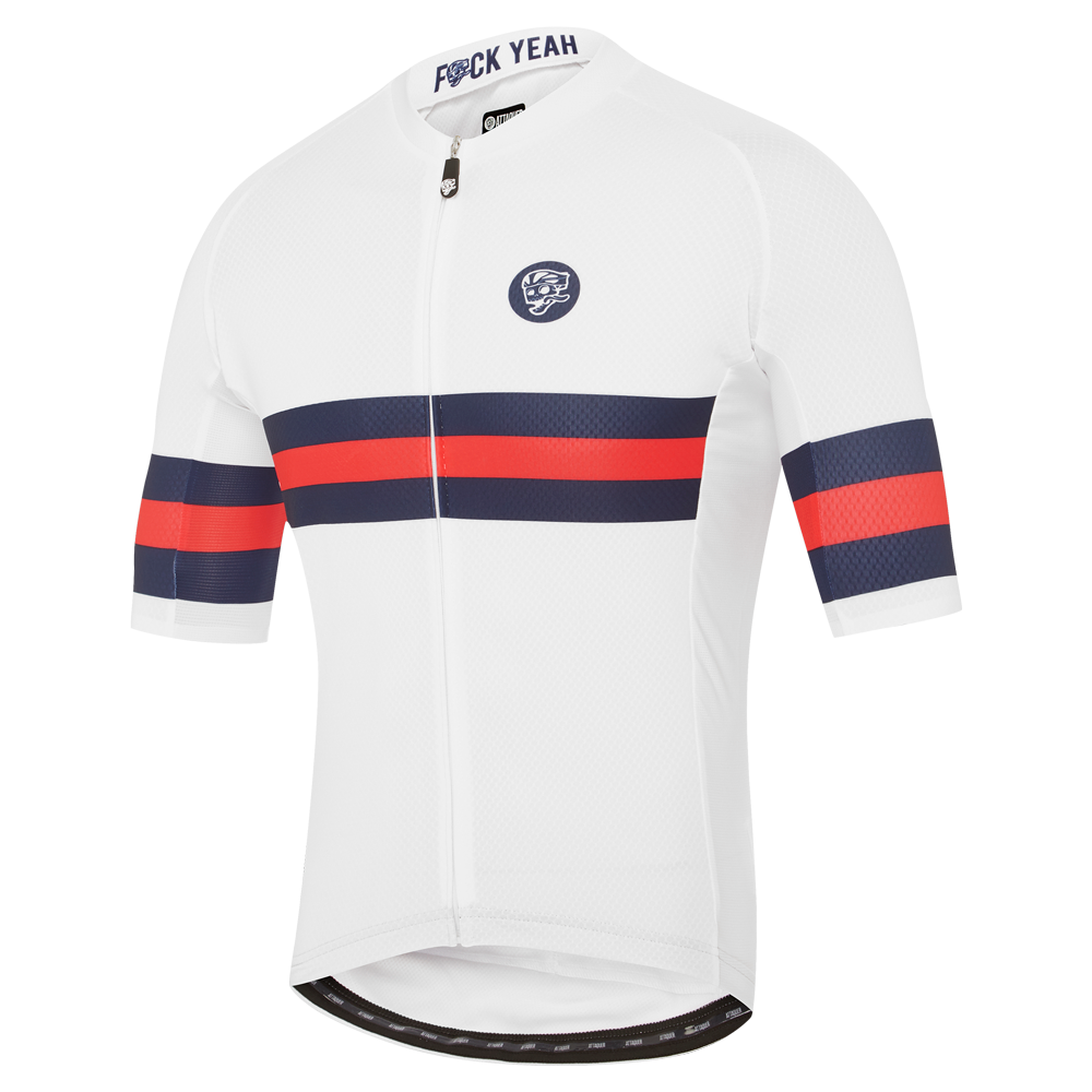 All Day Tri-Stripe Jersey Navy/Red main