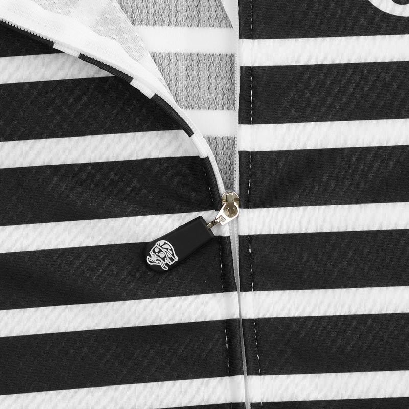 Womens All Day Sailor Jersey Black/White detail