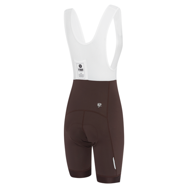 Womens A-Line Bib Shorts Coffee main