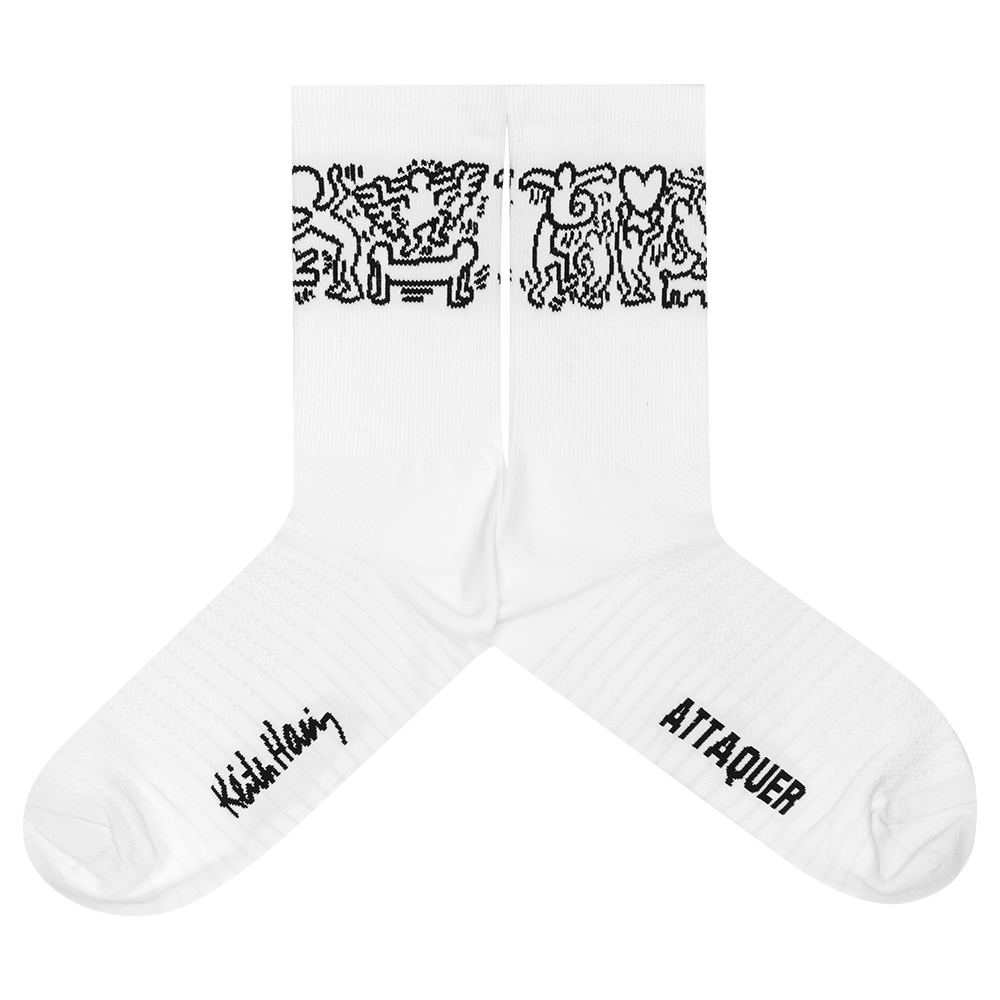 Keith Haring x Attaquer Buddies Socks main