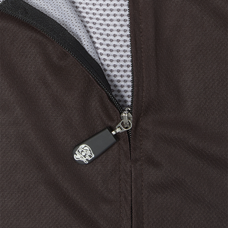 A-Line Bib Shorts Coffee detail