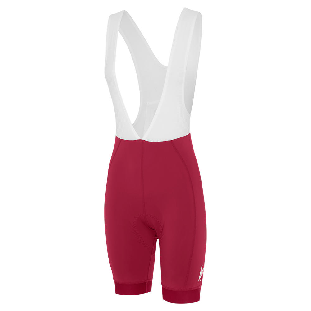 Womens A-Line Bib Shorts Merlot main
