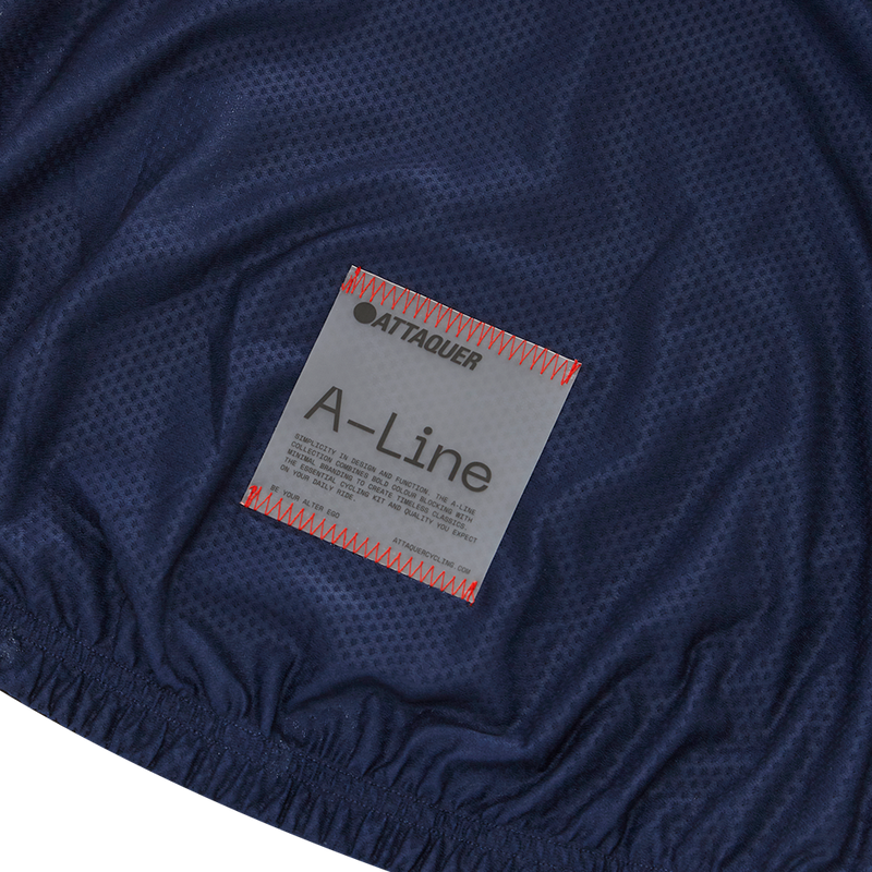 Attaquer Womens A-Line Jacket Navy detail