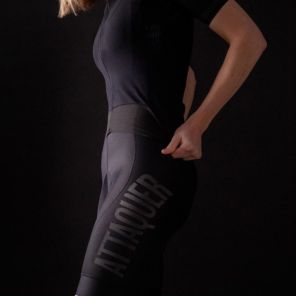 Womens Race Bib Short Navy Reflective lifestyle