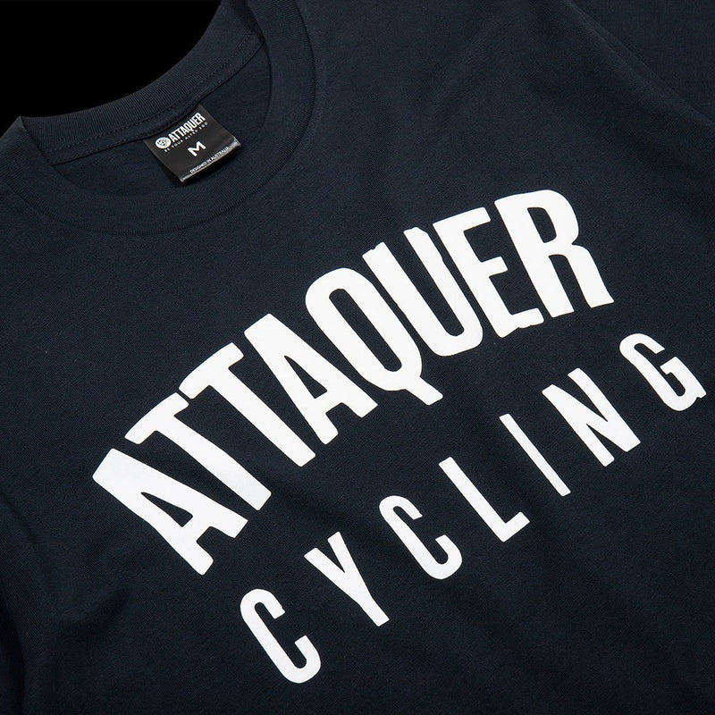 All Day Club Tee Navy detail