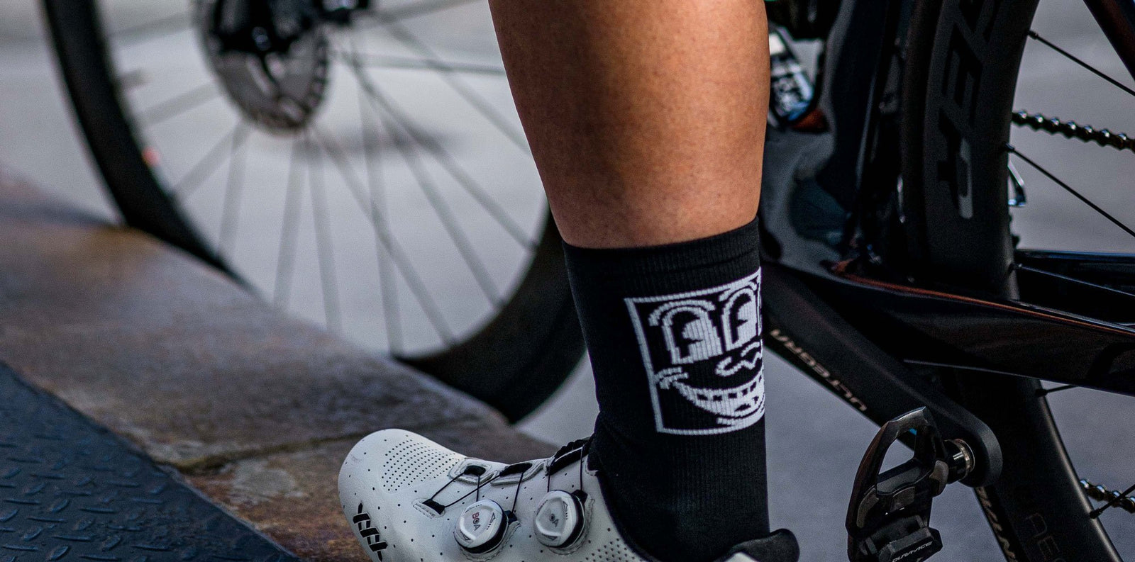 Attaquer x Keith Haring 3rd Eye Socks lifestyle