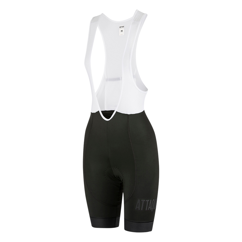 Womens All Day Bib Short Black/Reflective Logo main