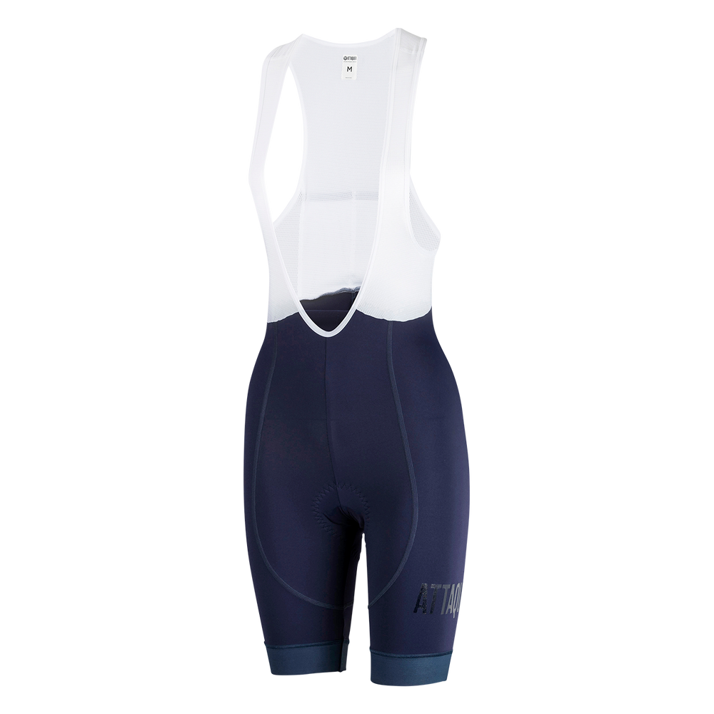 Womens All Day Bib Short Navy Reflective main