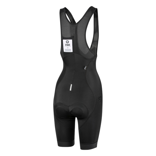 Womens Race Bib Short Black Reflective main
