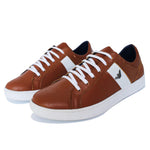 Basket En Cuir Marron Clair