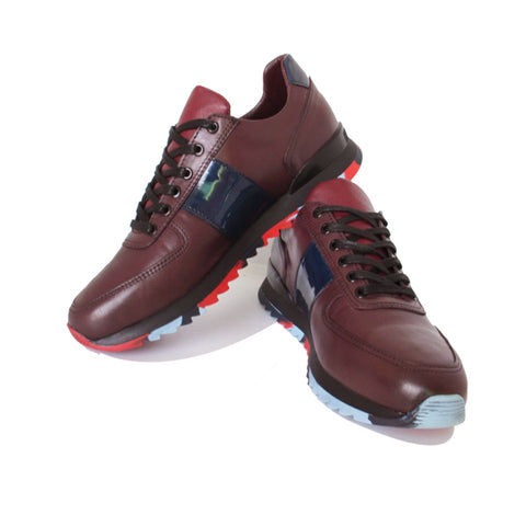 Basket En Cuir Marron