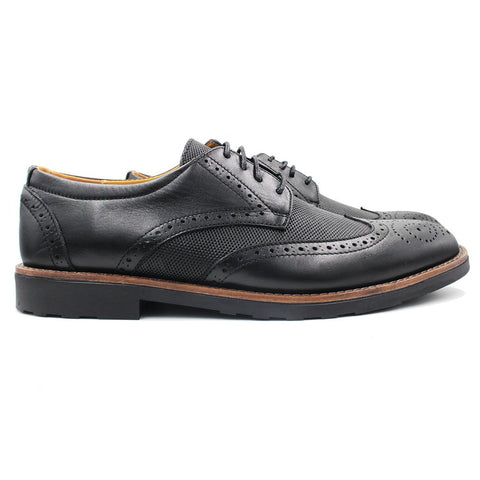 Derby brogue en Cuir noir