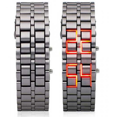 MONTRE A LED SAMOURAI HOMME