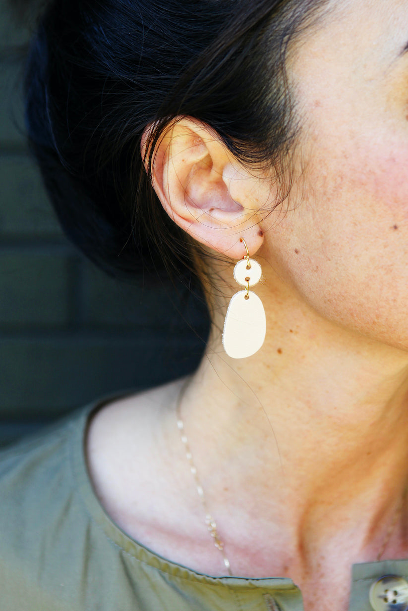 pebble drop earrings