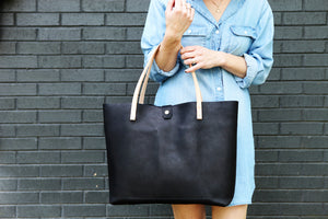 the utility tote, black