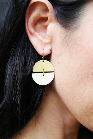 mini full circle earrings