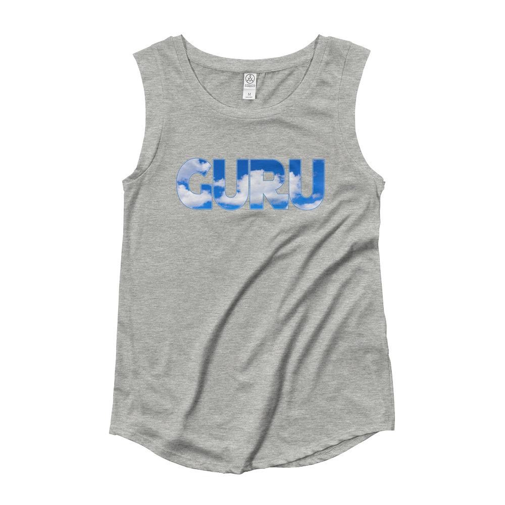 ELEVATED GURU | Cap Sleeve Tank Kundalini Market Heather Grey S