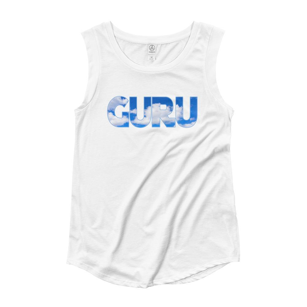 ELEVATED GURU | Cap Sleeve Tank Kundalini Market White S