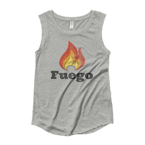 FUEGO | Women's Cap Sleeve Tank EAST OF ALTA Heather Grey S