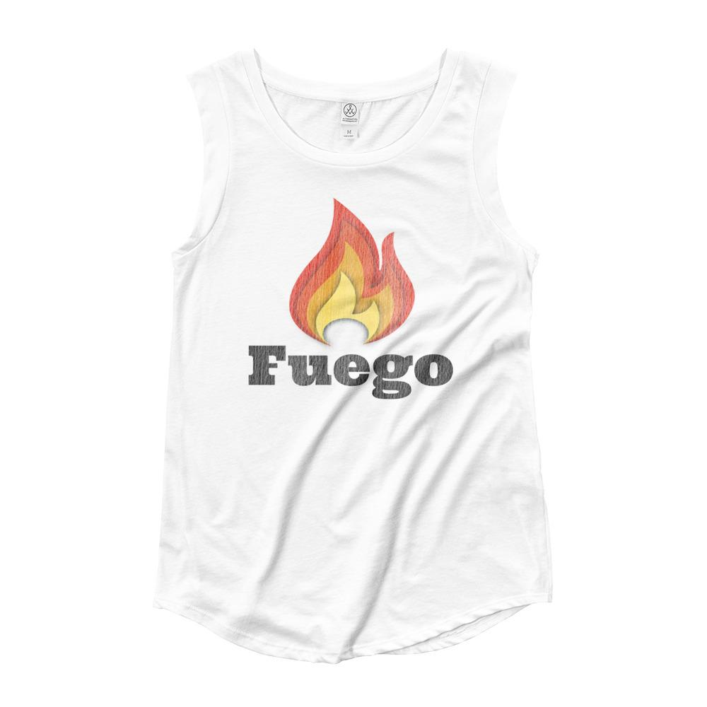 FUEGO | Women's Cap Sleeve Tank EAST OF ALTA White S