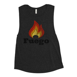 FUEGO | Women's Scoop Tank EAST OF ALTA Black Heather S