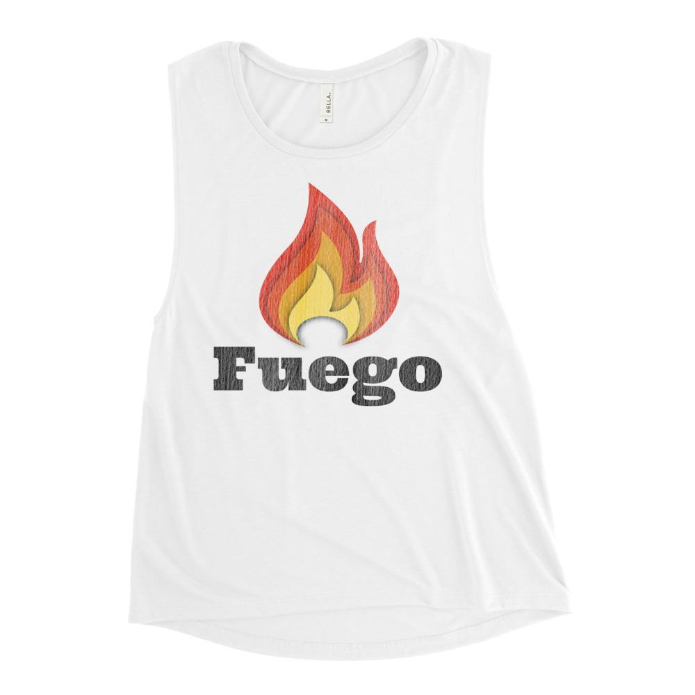 FUEGO | Women's Scoop Tank EAST OF ALTA White S