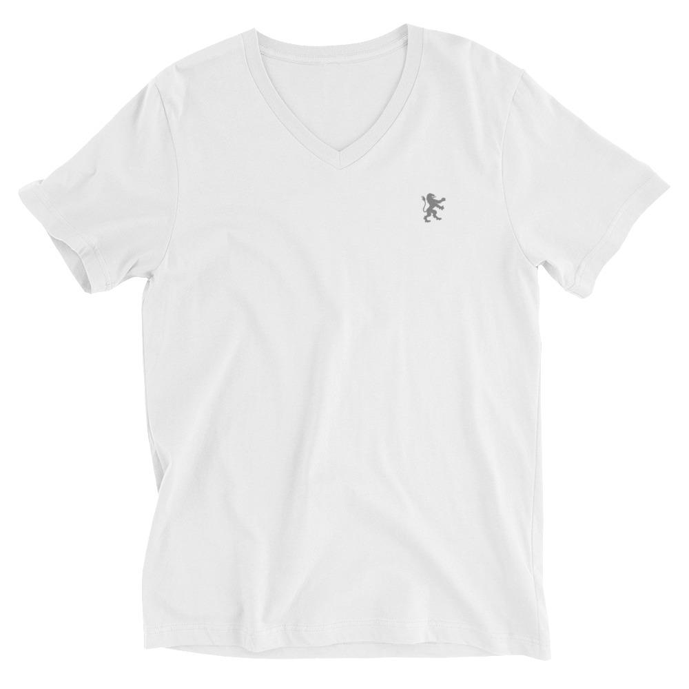 GREY RAMPANT LION | Men's V-Neck Tee EAST OF ALTA XS