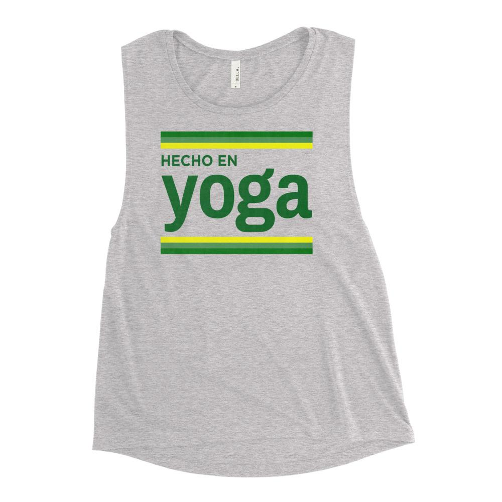 HECHO EN YOGA | Women's Scoop Tank Kundalini Market Athletic Heather S