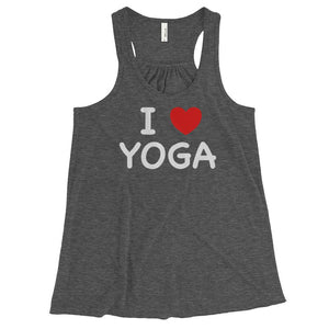 I HEART YOGA | Racerback Tank Kundalini Market Dark Grey Heather XS