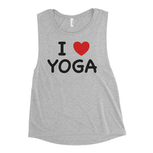 I HEART YOGA | Scoop Tank Kundalini Market Athletic Heather S