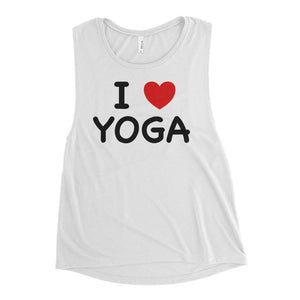 I HEART YOGA | Scoop Tank Kundalini Market White S
