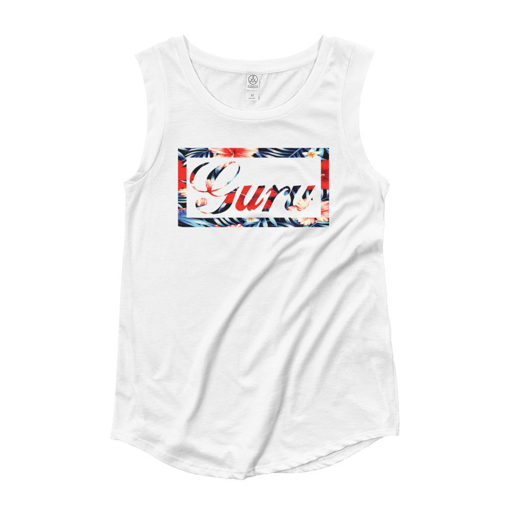 ISLAND GURU | Women's Cap Sleeve Tank EAST OF ALTA White S