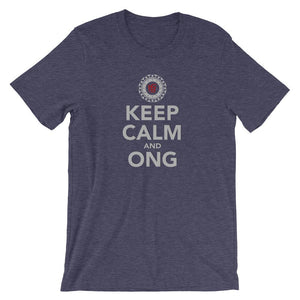 KEEP CALM AND ONG | Tee Kundalini Market Heather Midnight Navy XS