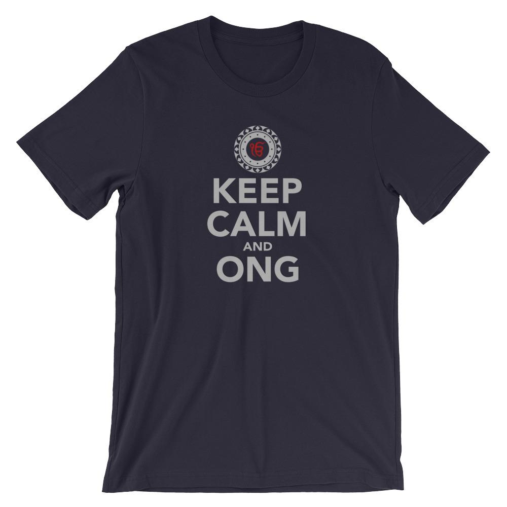 KEEP CALM AND ONG | Tee Kundalini Market Navy XS
