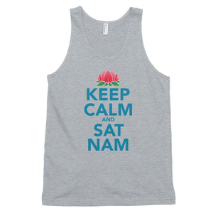 KEEP CALM AND SAT NAM | Tank Top Kundalini Market Heather Grey XS