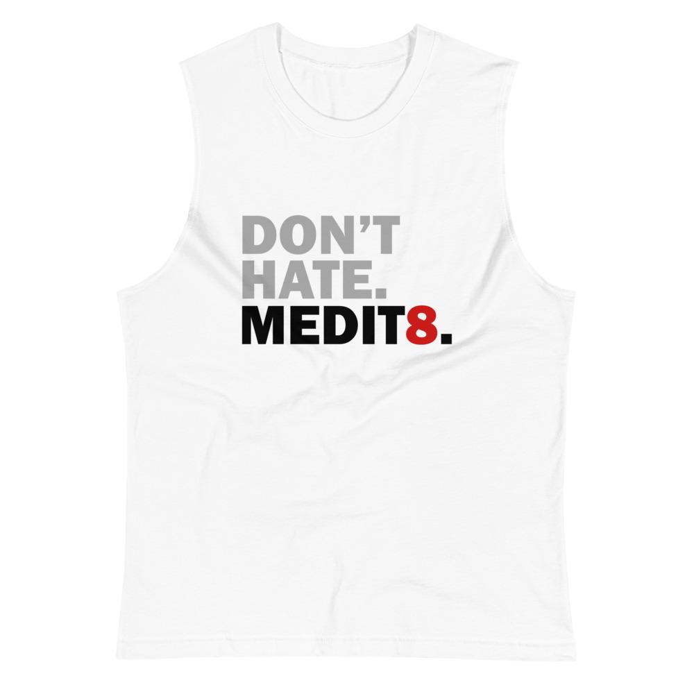 MEDIT8 | Men's Muscle Shirt EAST OF ALTA White S