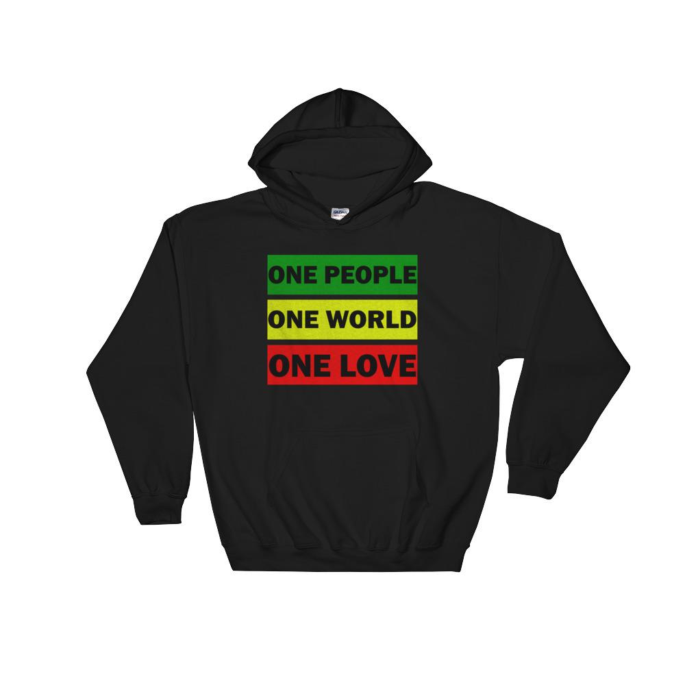 ONE WORLD ONE LOVE | Hoodie EAST OF ALTA Black S