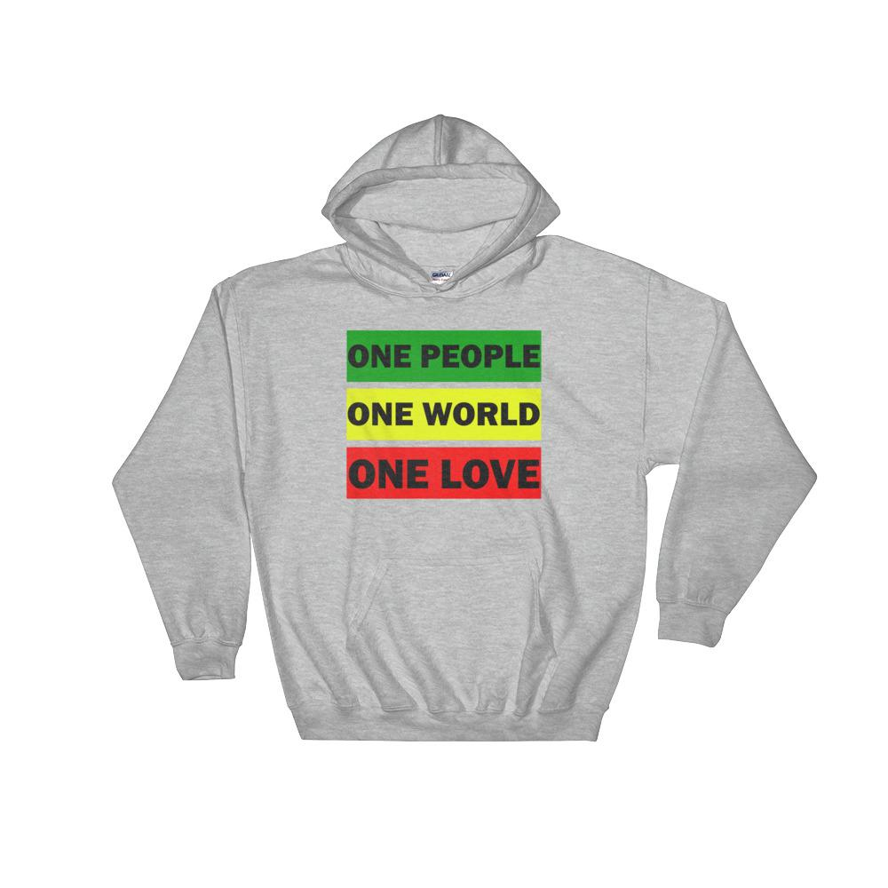 ONE WORLD ONE LOVE | Hoodie EAST OF ALTA Sport Grey S