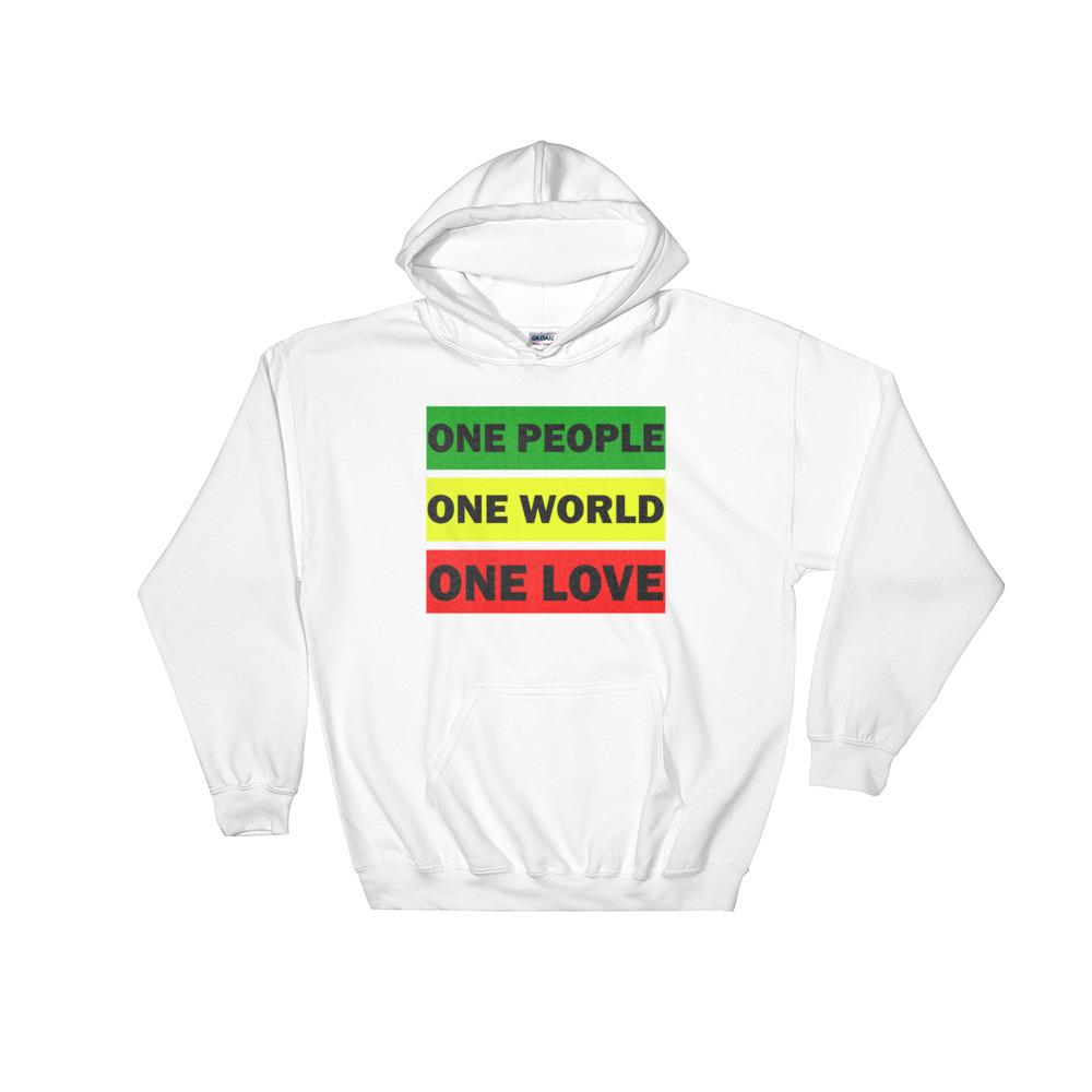 ONE WORLD ONE LOVE | Hoodie EAST OF ALTA White S
