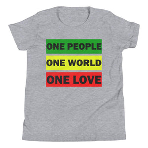 ONE WORLD ONE LOVE | Kids Tee EAST OF ALTA Athletic Heather S