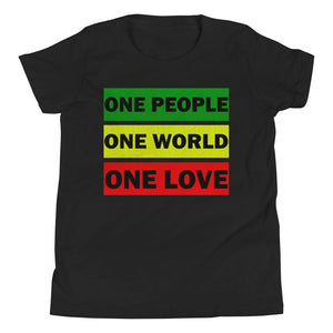 ONE WORLD ONE LOVE | Kids Tee EAST OF ALTA Black S