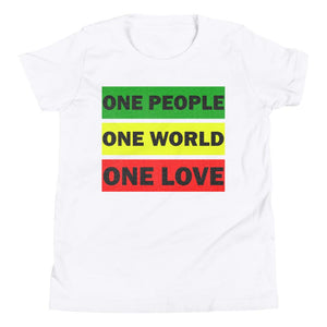 ONE WORLD ONE LOVE | Kids Tee EAST OF ALTA White S