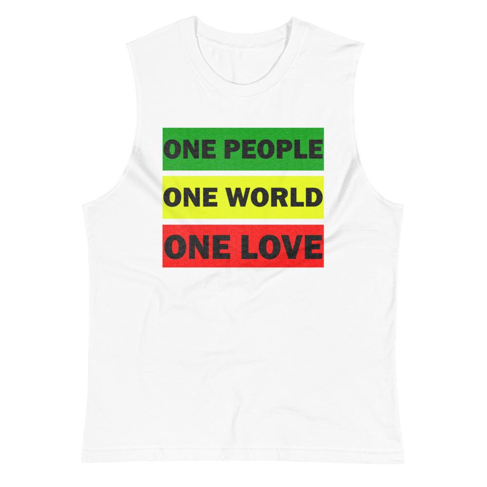 ONE WORLD ONE LOVE | Men's Muscle Shirt EAST OF ALTA White S