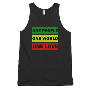 ONE WORLD ONE LOVE | Men's Tank Top EAST OF ALTA Black XS