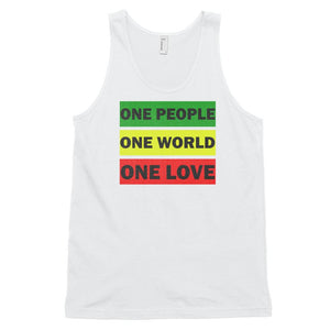 ONE WORLD ONE LOVE | Men's Tank Top EAST OF ALTA White XS