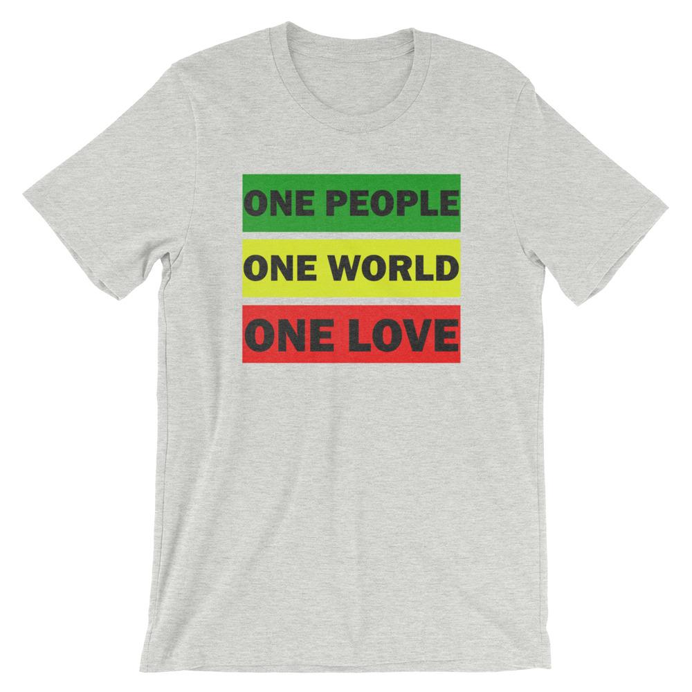 ONE WORLD ONE LOVE | Men's Tee EAST OF ALTA Athletic Heather S